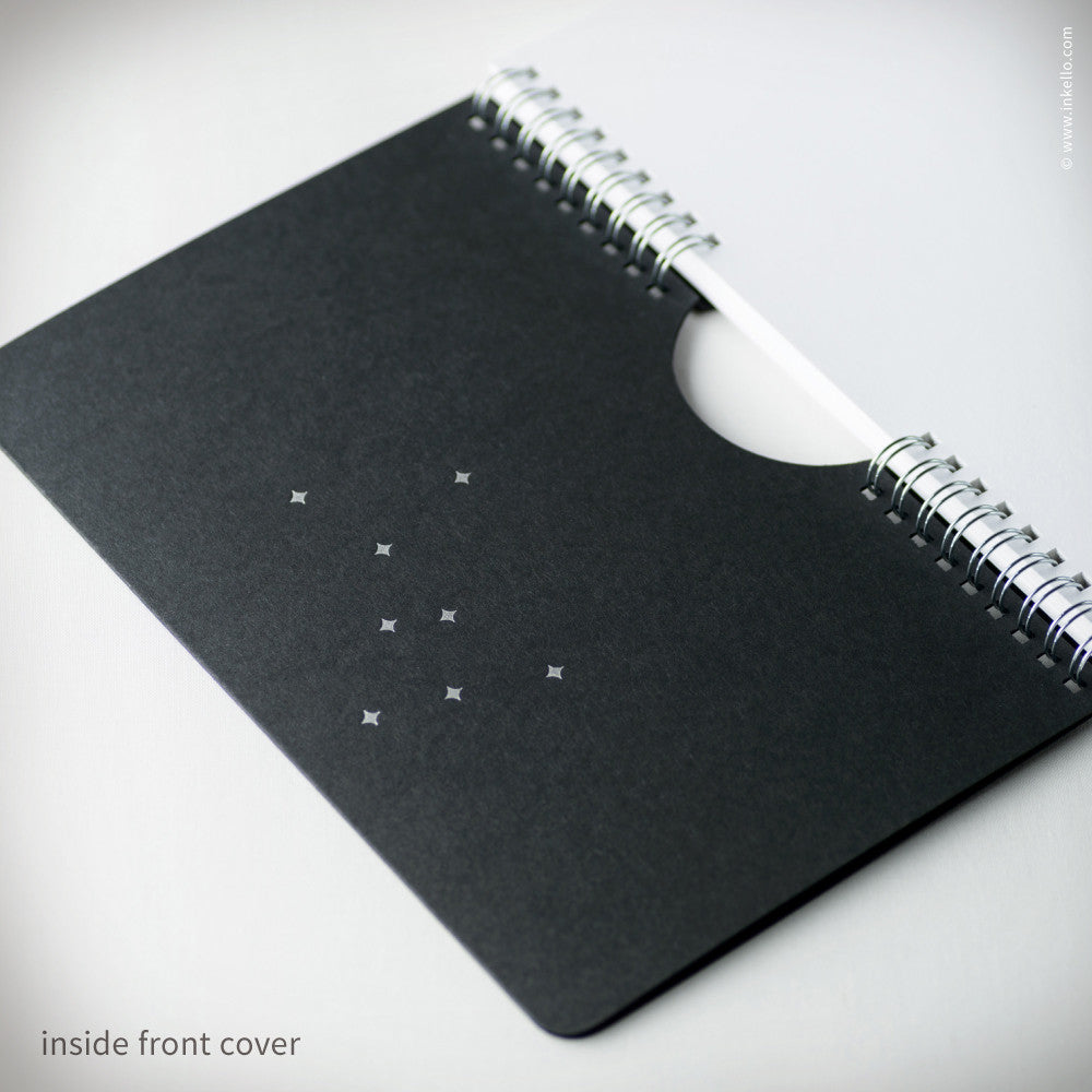 Black Star Spiral Notebook (#465) Notebook - Inkello Letterpress