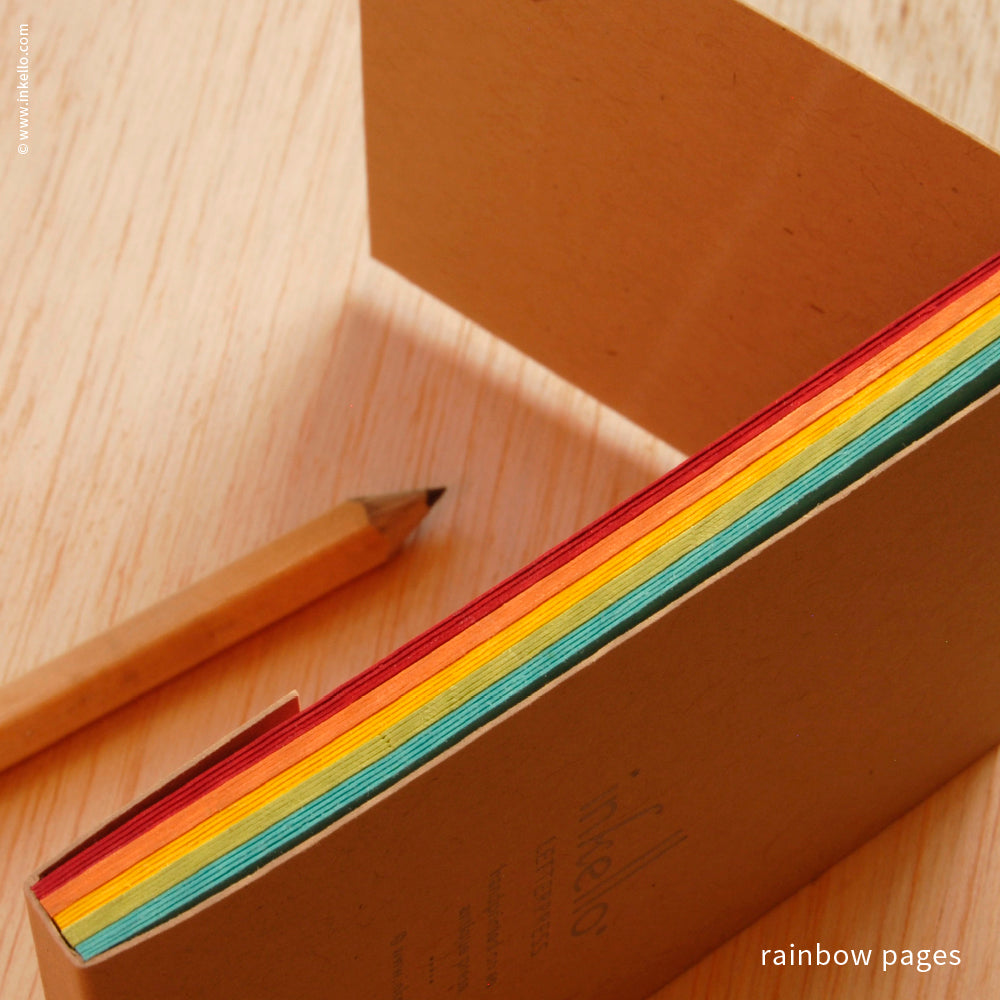 Rainbow Monogram Jotter (#475) Matchbook Jotter - Inkello Letterpress