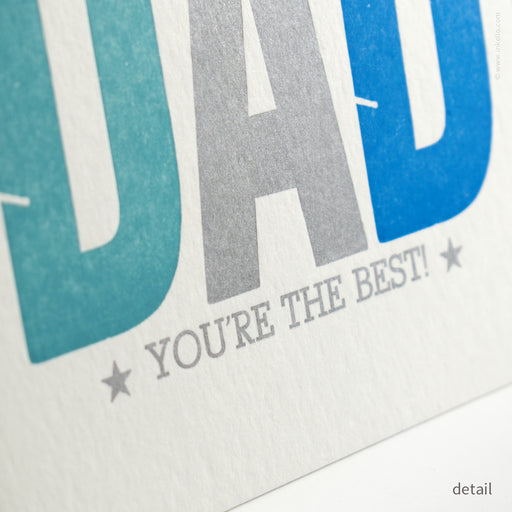 Dad, You're the Best! Flat Square Card (#486)