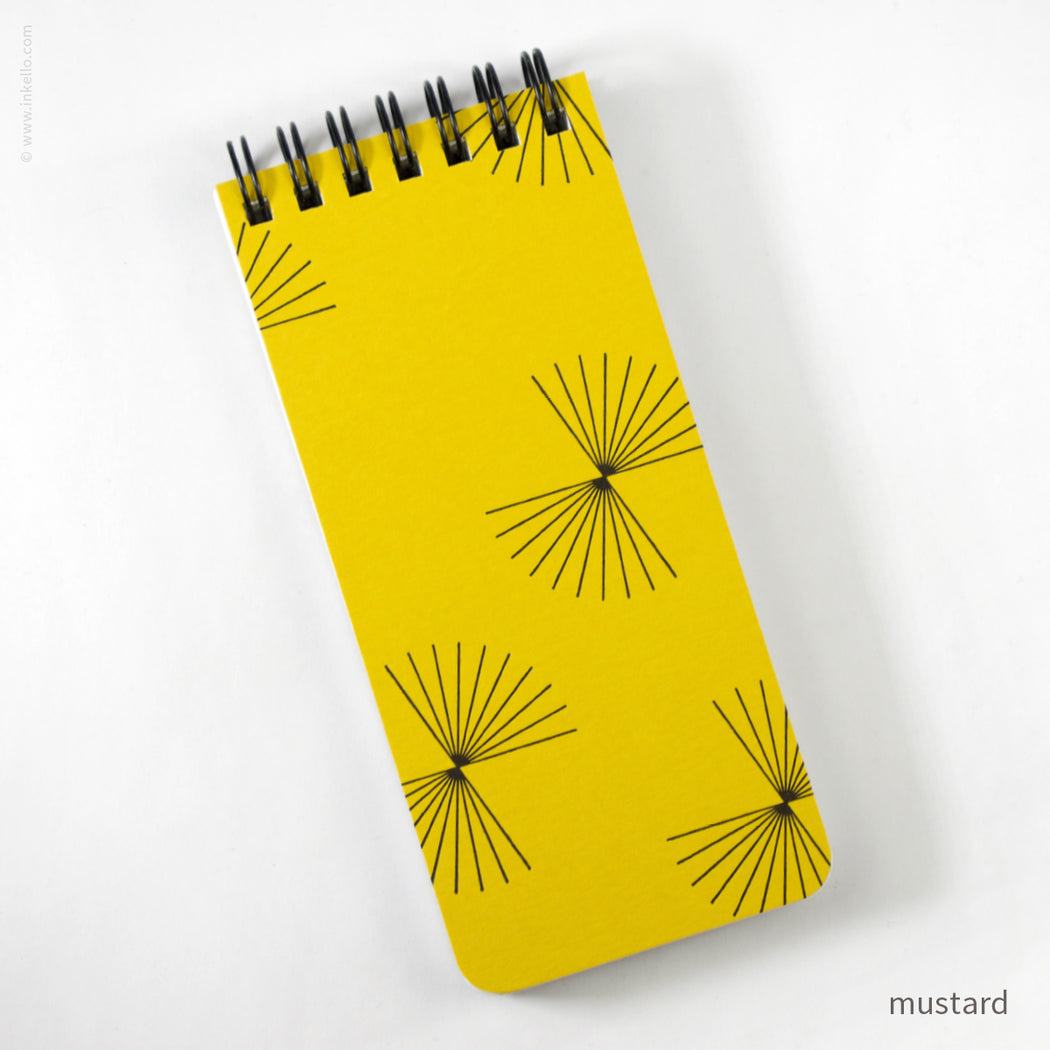 Small Spiral Notepad With Bursts (#503)