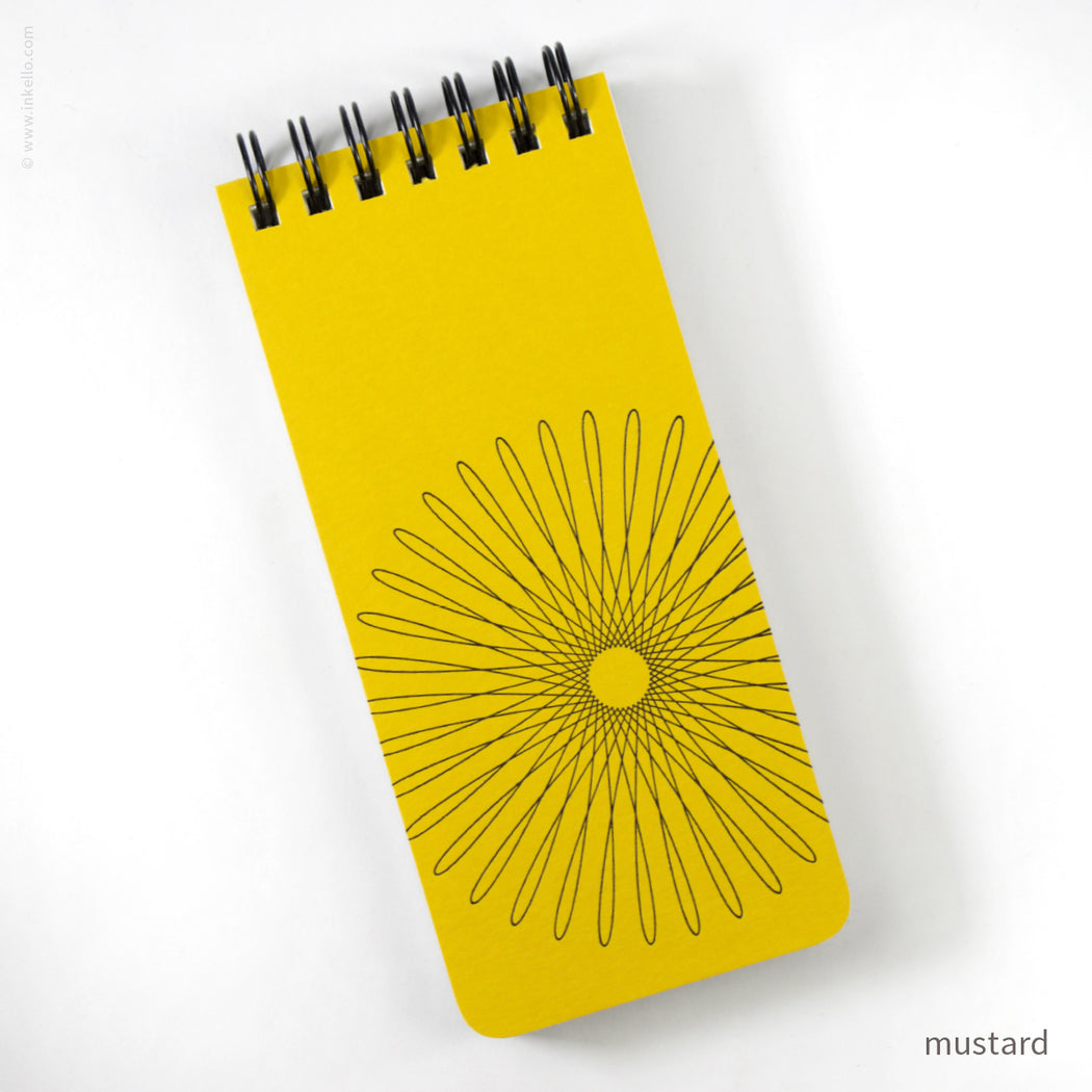 Small Spiral Notepad With Hypotrochoid (#507)