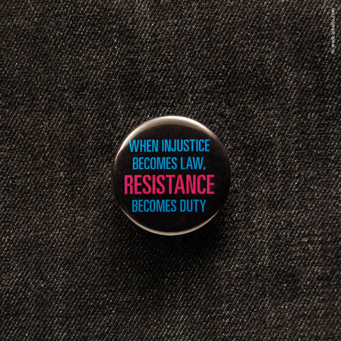 Front of Inkello Resistance Button 1 1/4 inch With Pin - 610