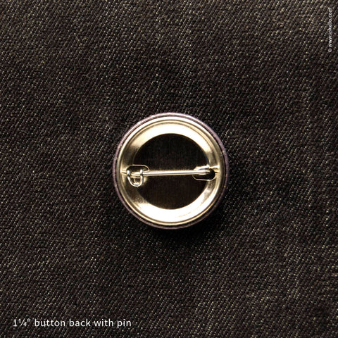 Back of Inkello Resistance Button 1 1/4 inch With Pin - 610