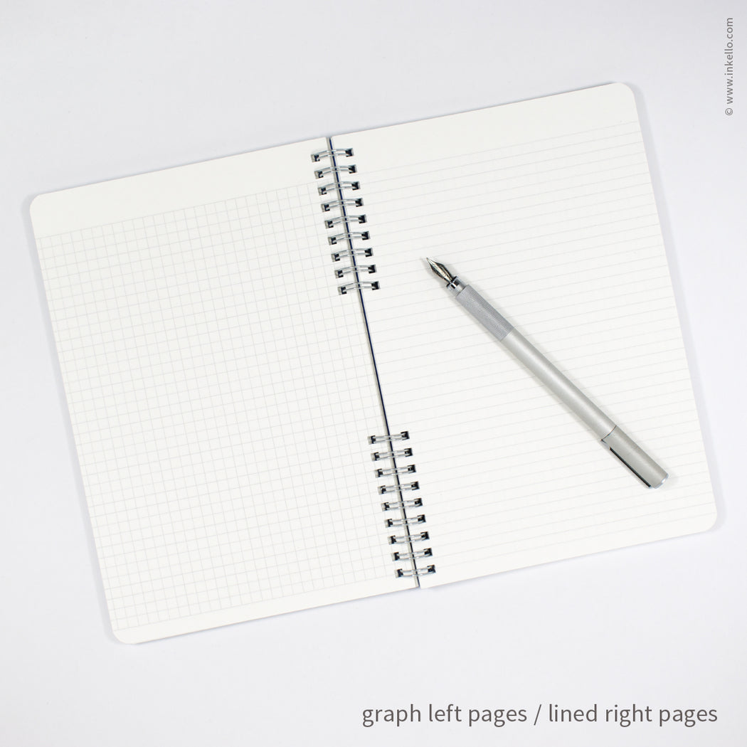 Silver Monogram Spiral Notebook with Kraft Cover (#450)
