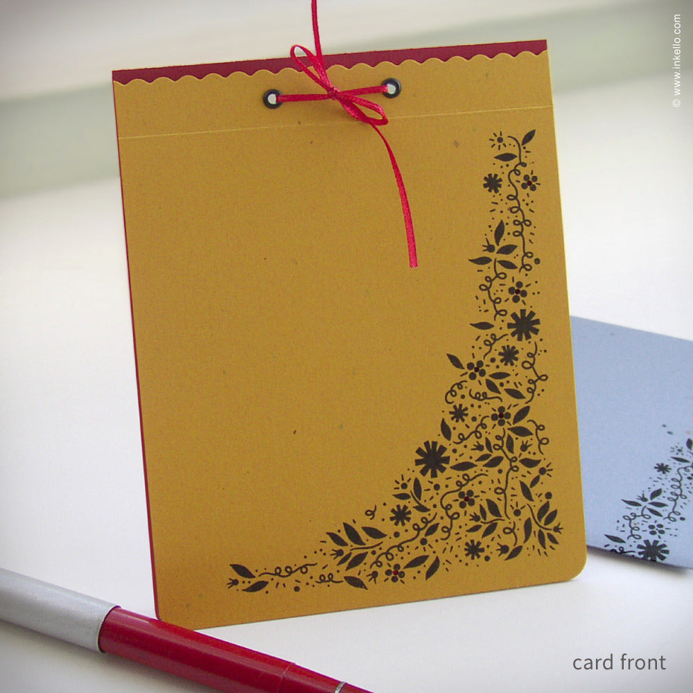 Primary Color Doodle Flowers Card {#101}