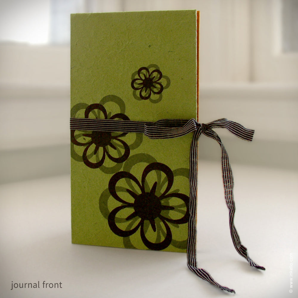 Slim Lime & Orange Accordion Journal {#104}