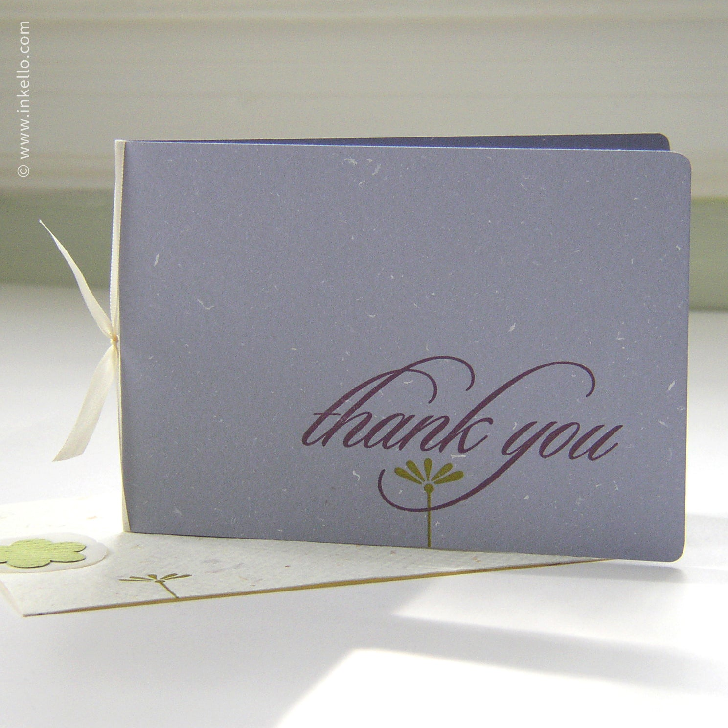 "Periwinkle ""Thank You"" Card {#112}"