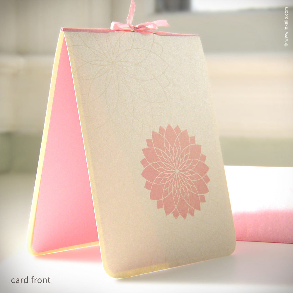 Pink Chrysanthemum Card {#114}