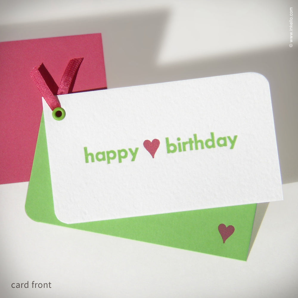 "Mini ""Happy Birthday"" Card {#119}"