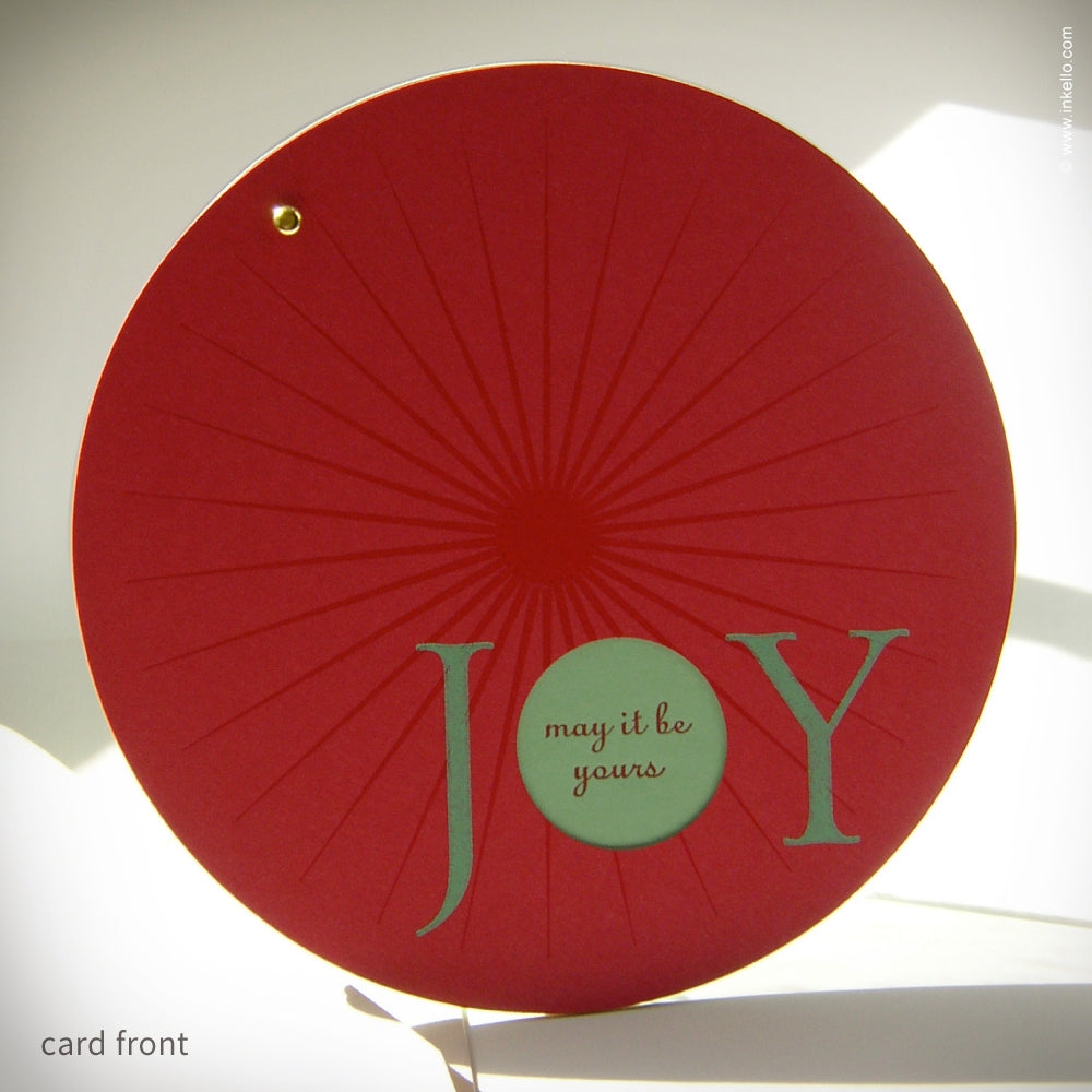 "Circular ""JOY"" Holiday Card {#128}"