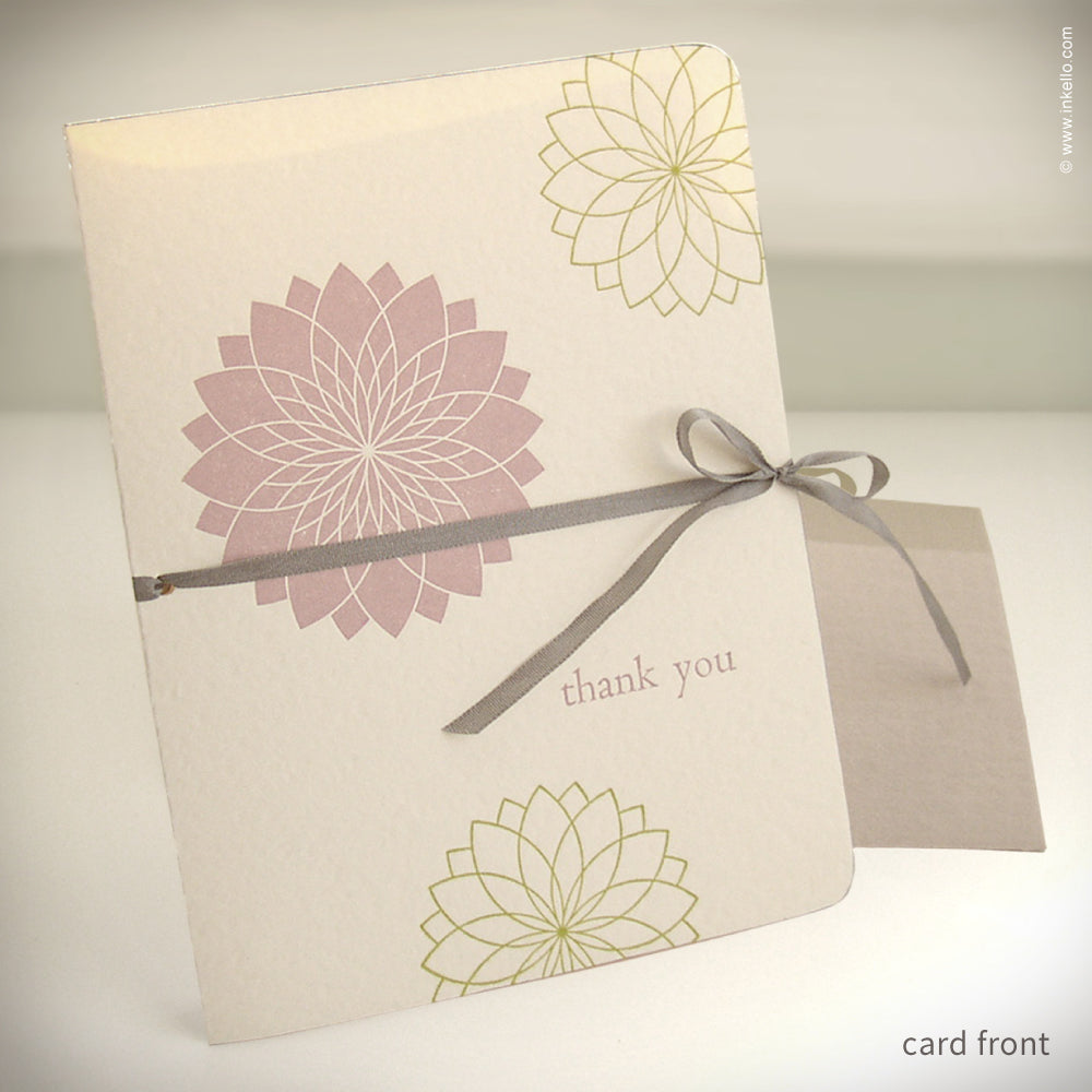 """Thank You"" Chrysanthemum Card {#132}"