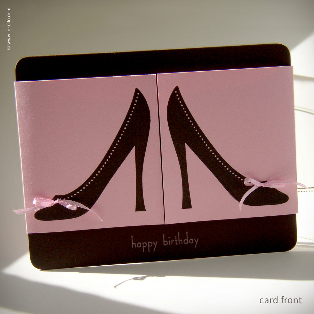 Happy Birthday Shoe Card {#137}