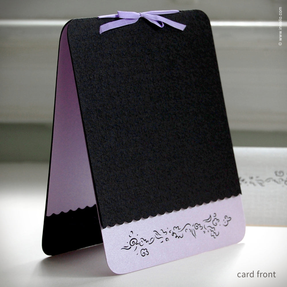 Lavender & Black Flower Spray Card {#139}