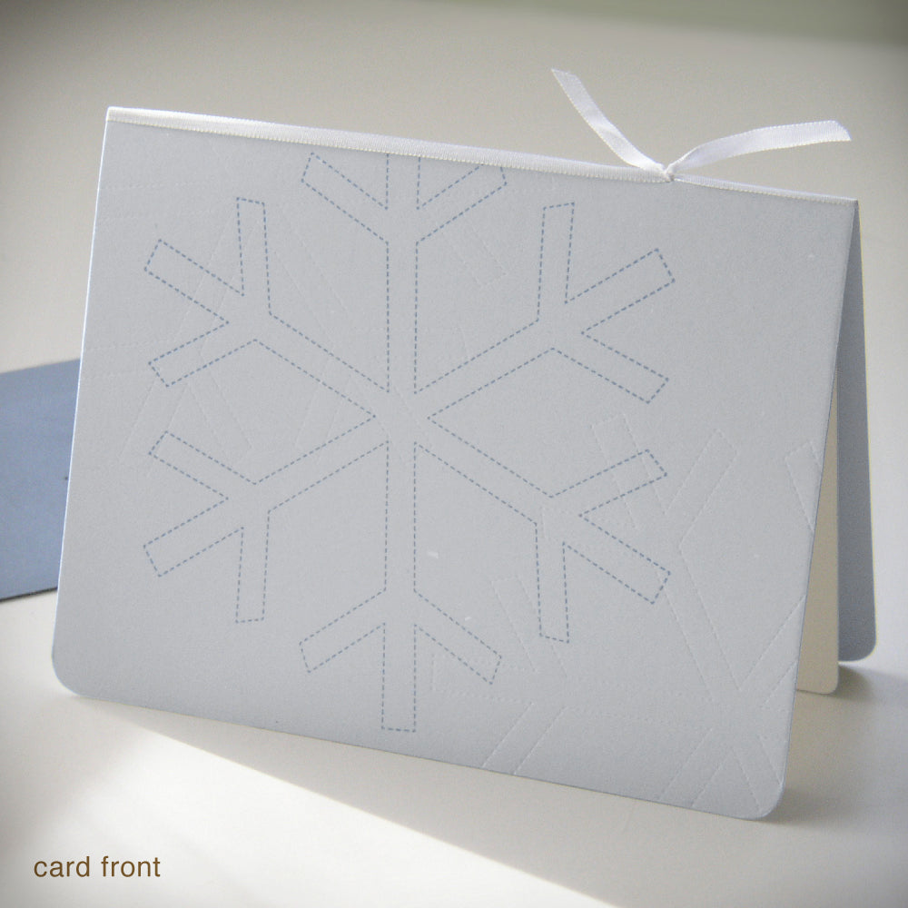 Dashed Snowflake Holiday Card {#144}