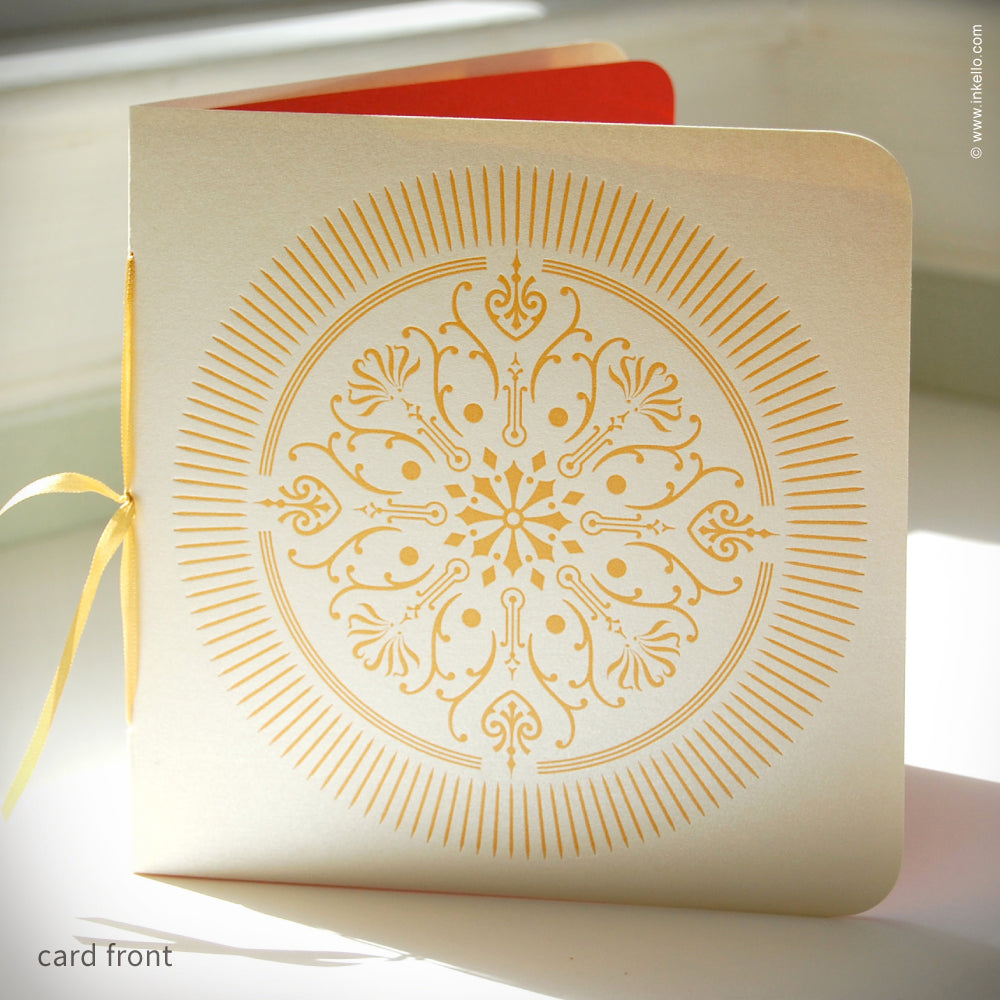 Golden Medallion Holiday Card {#147}