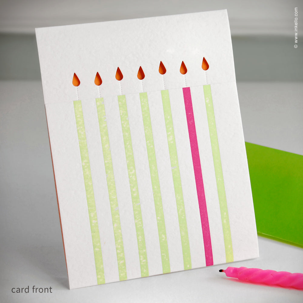 Birthday Candles Card {#148}