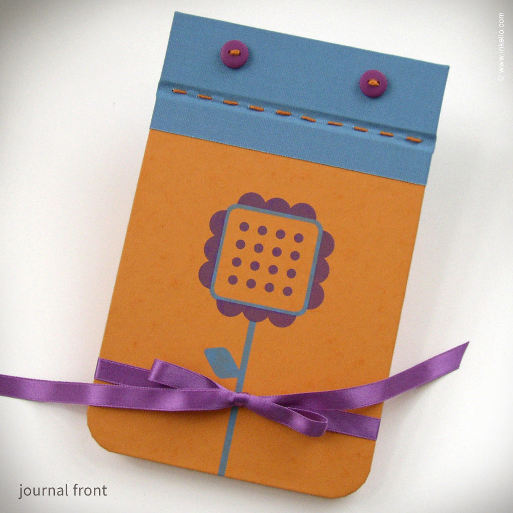 Orange Square Flower Journal {#157}