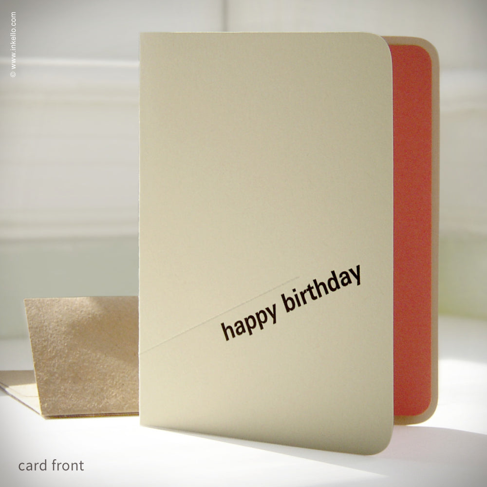 Men's Perforated Happy Birthday Card {#159}