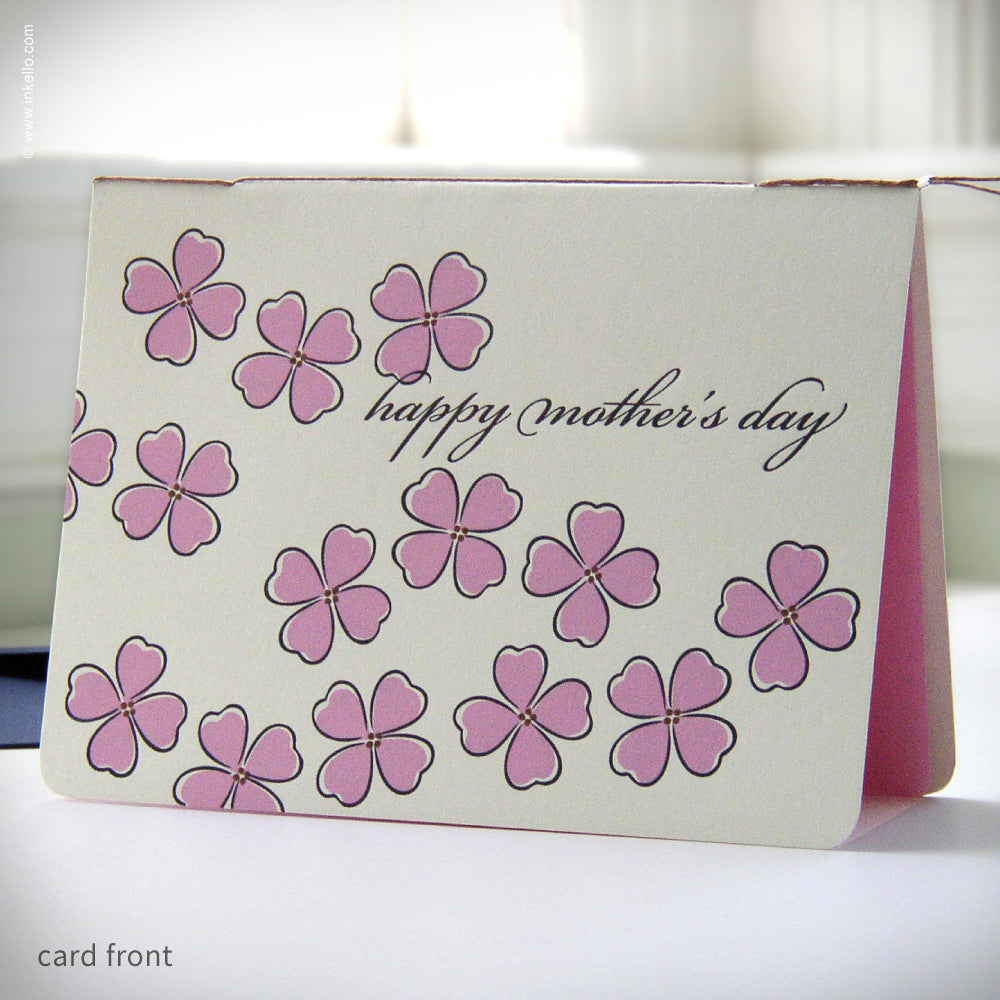 Pink & Navy Mother's Day Card {#185}