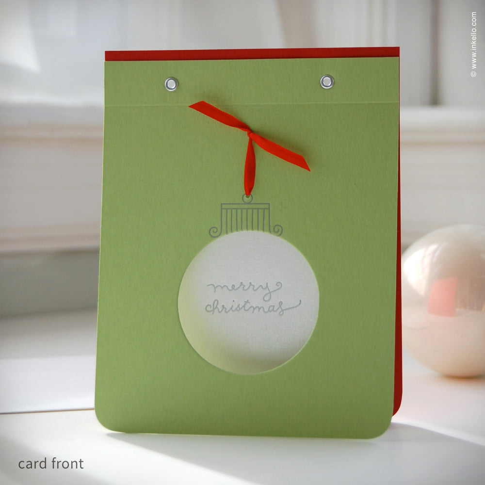 Merry Christmas Ornament Holiday Card {#214}