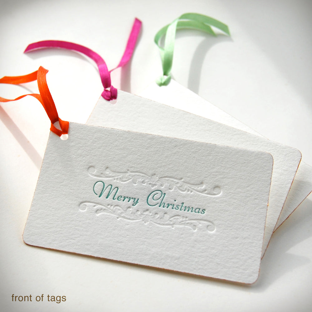 Faux Gilt Merry Christmas Gift Tags {#217}