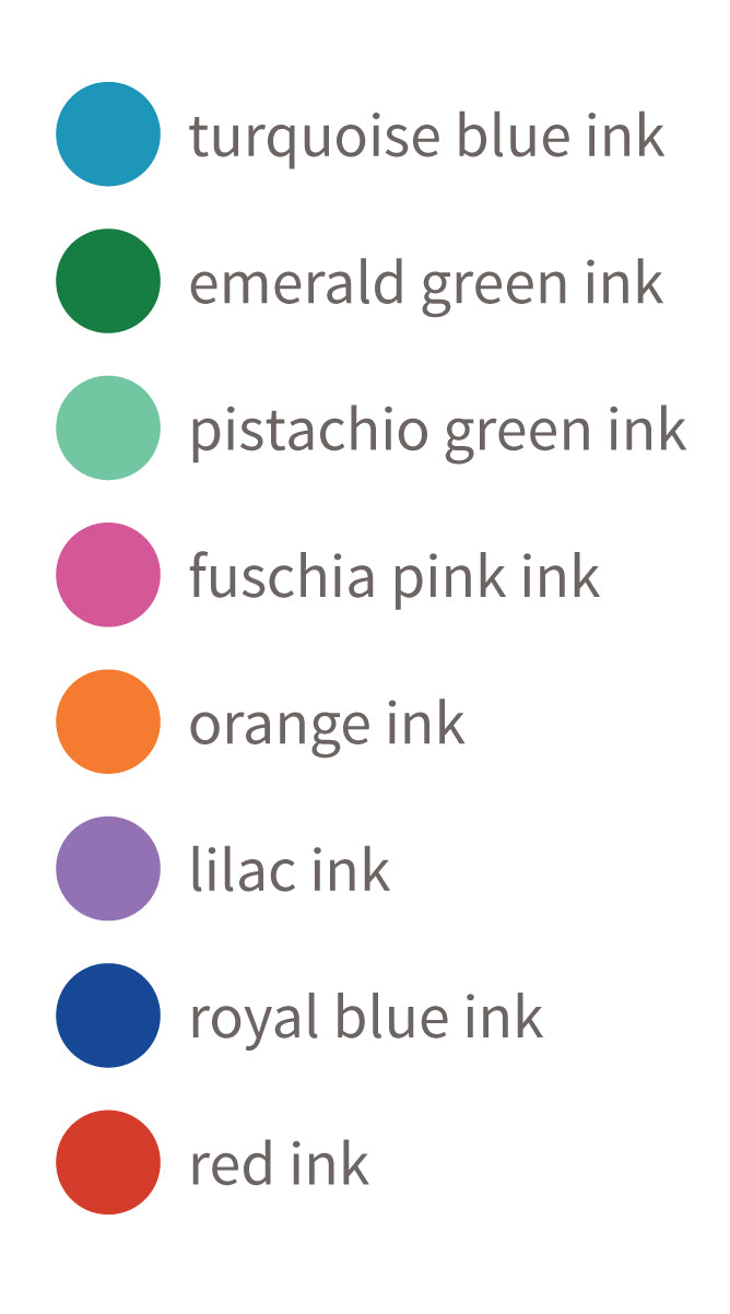 monogram ink color choices