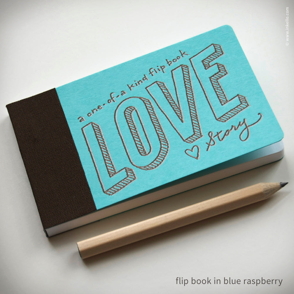 Love Story Flip Book + Pencil (#406)
