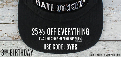 Hat Locker turns 3 sale