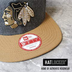 Chicago Blackhawks Grey Melton Snapback by New Era
