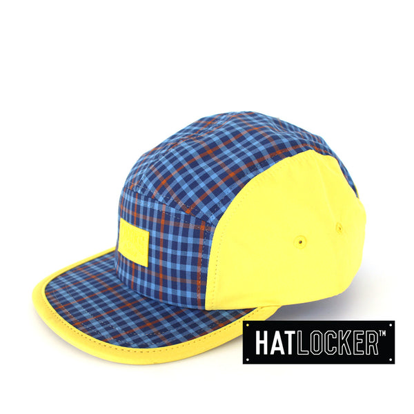 crooks-castles-mad-plaid-yellow-blue-5-panel
