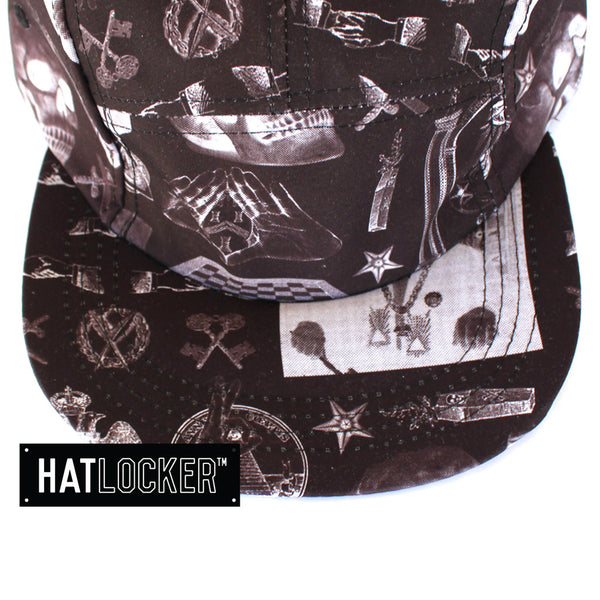 crooks-castles-shriners-black-5-panel