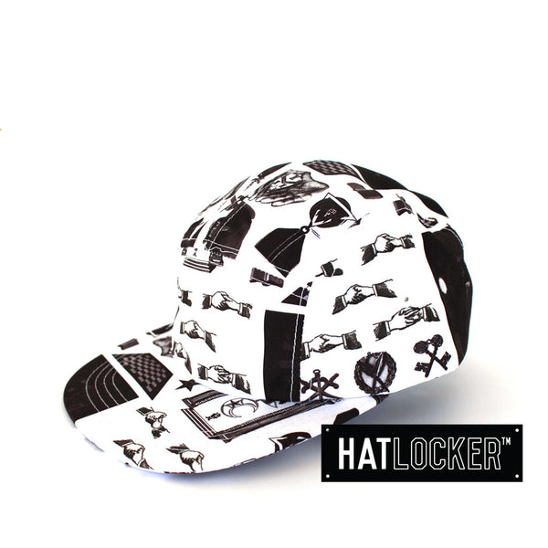 crooks-castles-shriners-white-5-panel