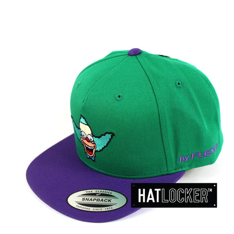Flexfit - The Simpsons Krusty Head Green Purple Snapback