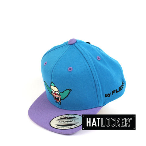 Flexfit The Simpsons Krusty Blue Purple Toddler Snapback Hat Side