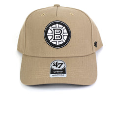 47 Brand Boston Bruins Khaki 47 MVP DT Curved Snapback