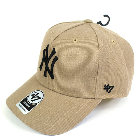 47 Brand New York Yankees Khaki 47 MVP DT Curved Snapback