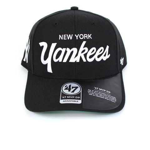 47 Brand New York Yankees Black Replica Script 47 MVP DP Snapback