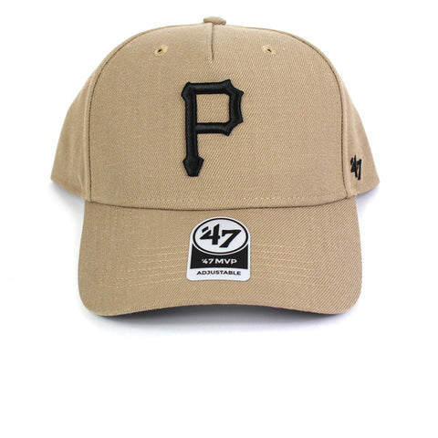 47 Brand Pittsburgh Pirates Khaki 47 MVP DT Curved Snapback