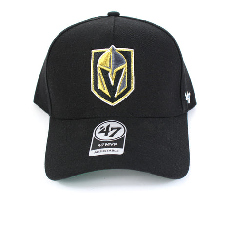 Vegas Golden Knights Hat Black Replica 47 MVP DT Curved Snapback 47 Brand