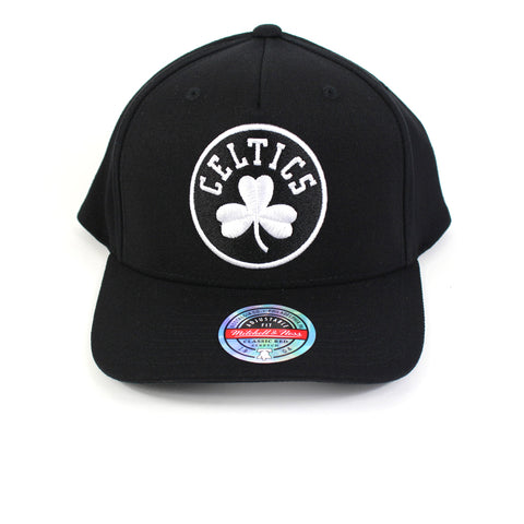 Mitchell & Ness Boston Celtics Black White Logo Redline Snapback