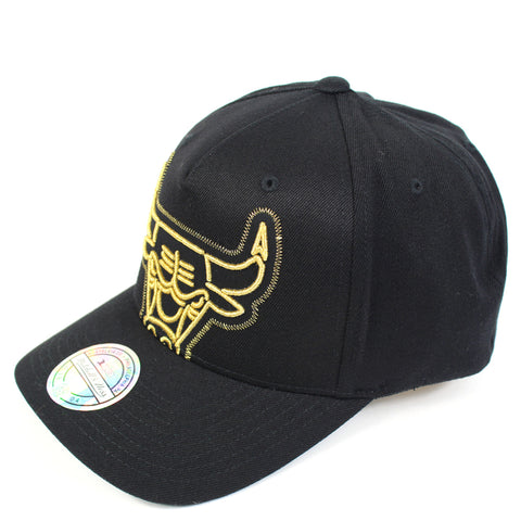 Mitchell and Ness Chicago Bulls Crop Neon PP Flex 110 Snapback