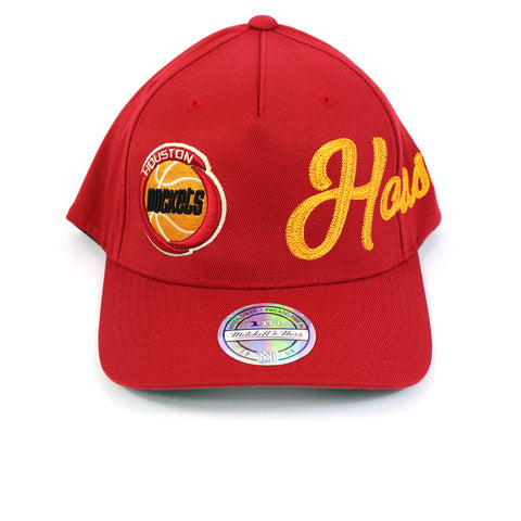 Mitchell and Ness Houston Rockets Side Out PP Flex 110 Snapback