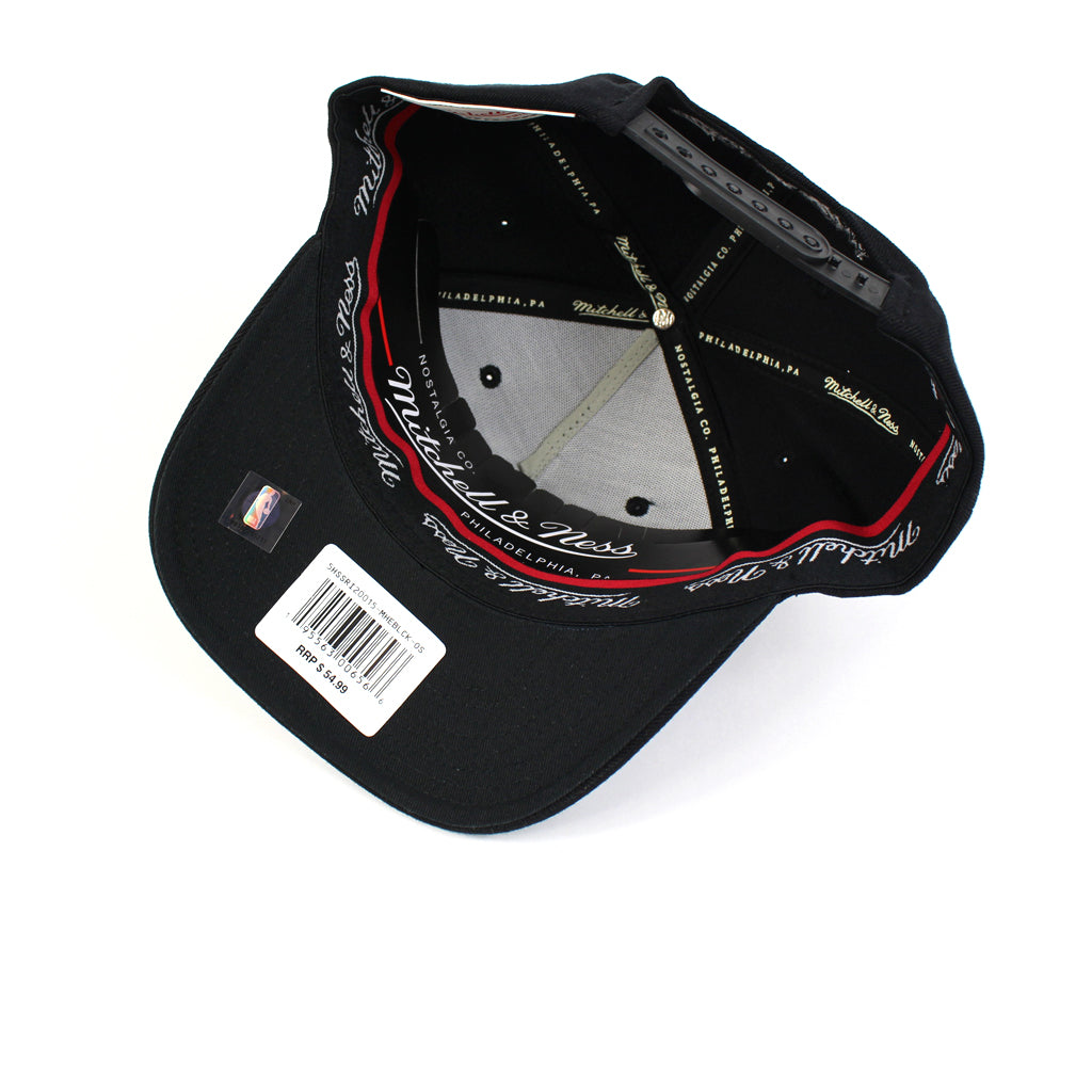 Mitchell & Ness Miami Heat Black White Logo Redline Snapback