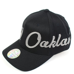 Mitchell and Ness Oakland Raiders Side Out PP Flex 110 Snapback