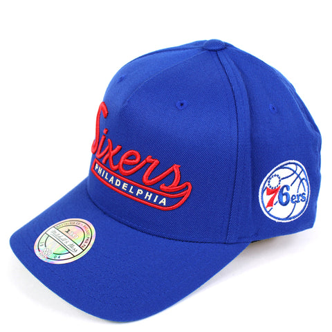 Mitchell and Ness Philadelphia 76ers Script N Tail PP Flex 110 Snapback