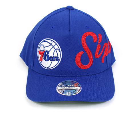Mitchell and Ness Philadelphia 76ers Side Out PP Flex 110 Snapback