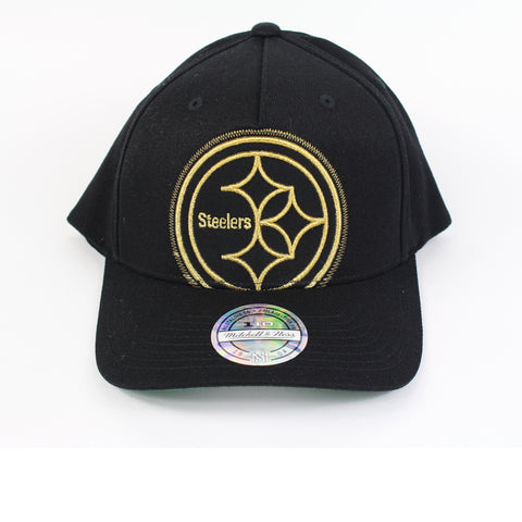 Mitchell and Ness Pittsburgh Steelers Crop Neon PP Flex 110 Snapback