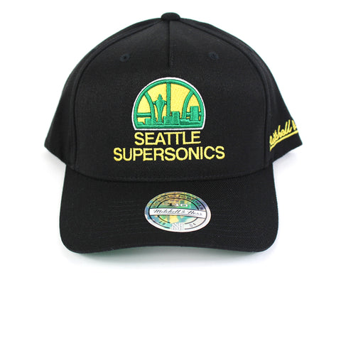 Mitchell and Ness Seattle Supersonics Drop Back PP Flex 110 Snapback