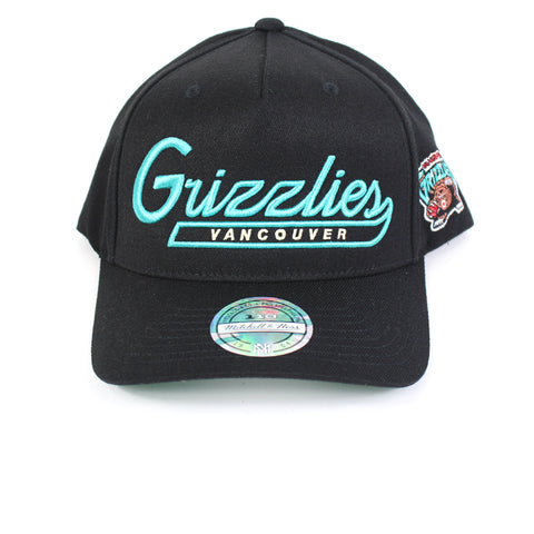Mitchell and Ness Vancouver Grizzlies Script N Tail PP Flex 110 Snapback