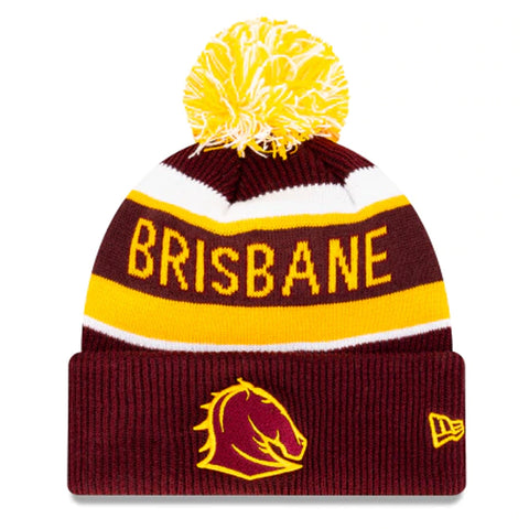 Brisbane Broncos Beanie Maroon NRL 2021 Official Collection New Era